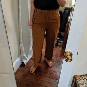Brown wide leg crop pants